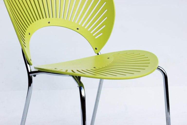 Scandinavian Modern Set of Three Trinidad Chairs in Light Green Designed by Nanna Ditzel For Sale
