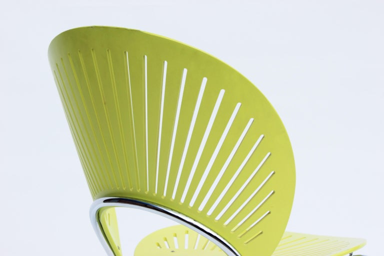 Set of Three Trinidad Chairs in Light Green Designed by Nanna Ditzel In Good Condition For Sale In Lejre, DK
