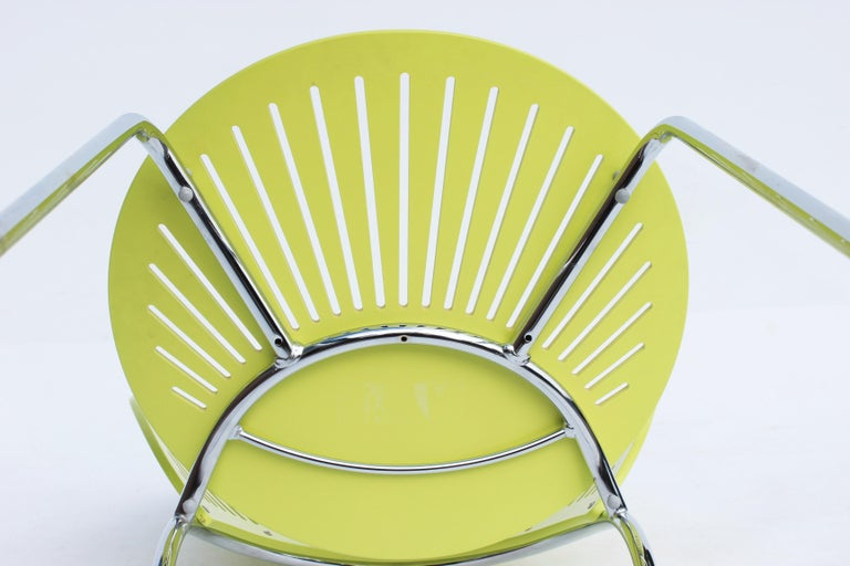 Mid-20th Century Set of Three Trinidad Chairs in Light Green Designed by Nanna Ditzel For Sale