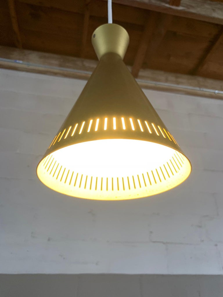 Set of Three Unusual Gold Pendant Lights, Germany, 1960s For Sale 1