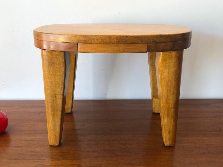 Mid-Century Modern A Set of Three Unusual Libriary Stools For Sale