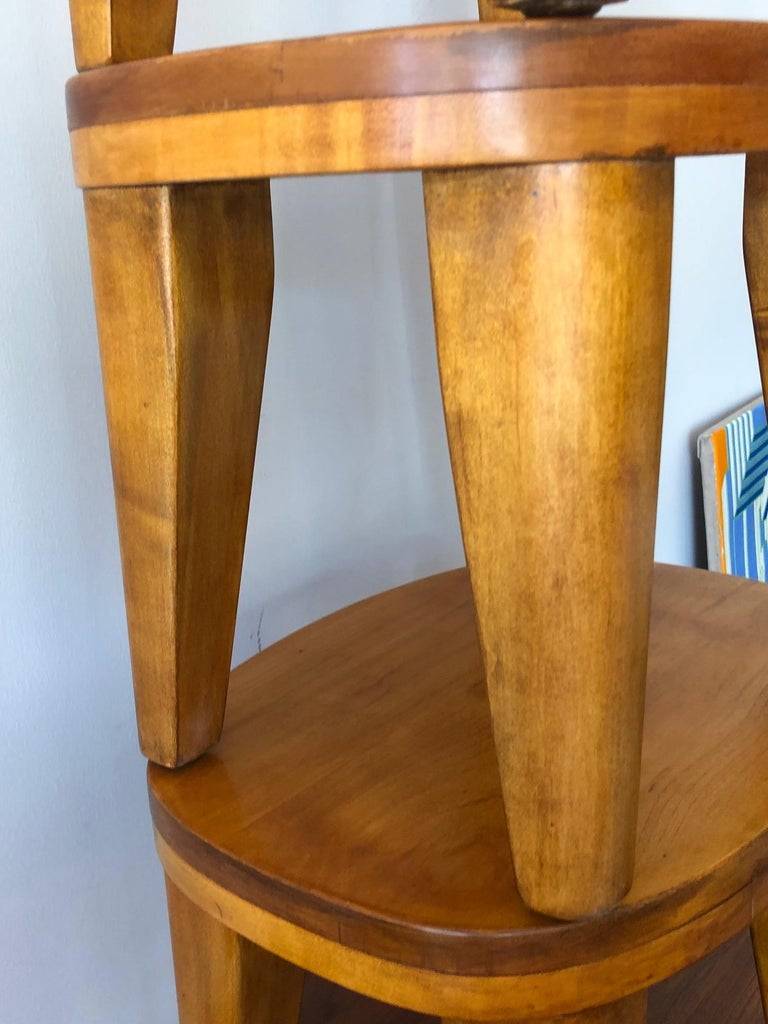 A Set of Three Unusual Libriary Stools For Sale 2