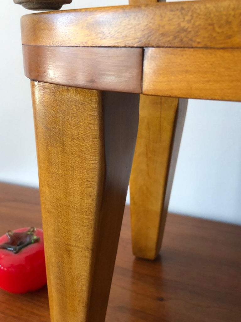 A Set of Three Unusual Libriary Stools For Sale 3