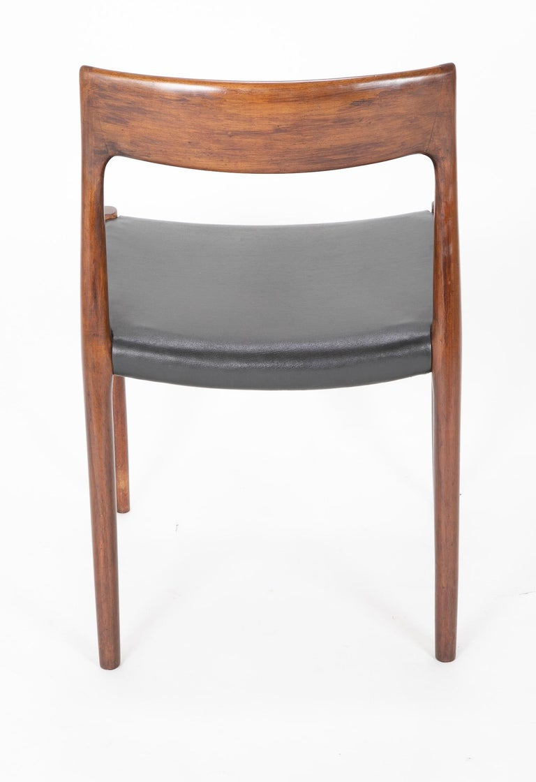 Set of Four Model 77 Niels Moller Rosewood Dining Chairs For Sale 4