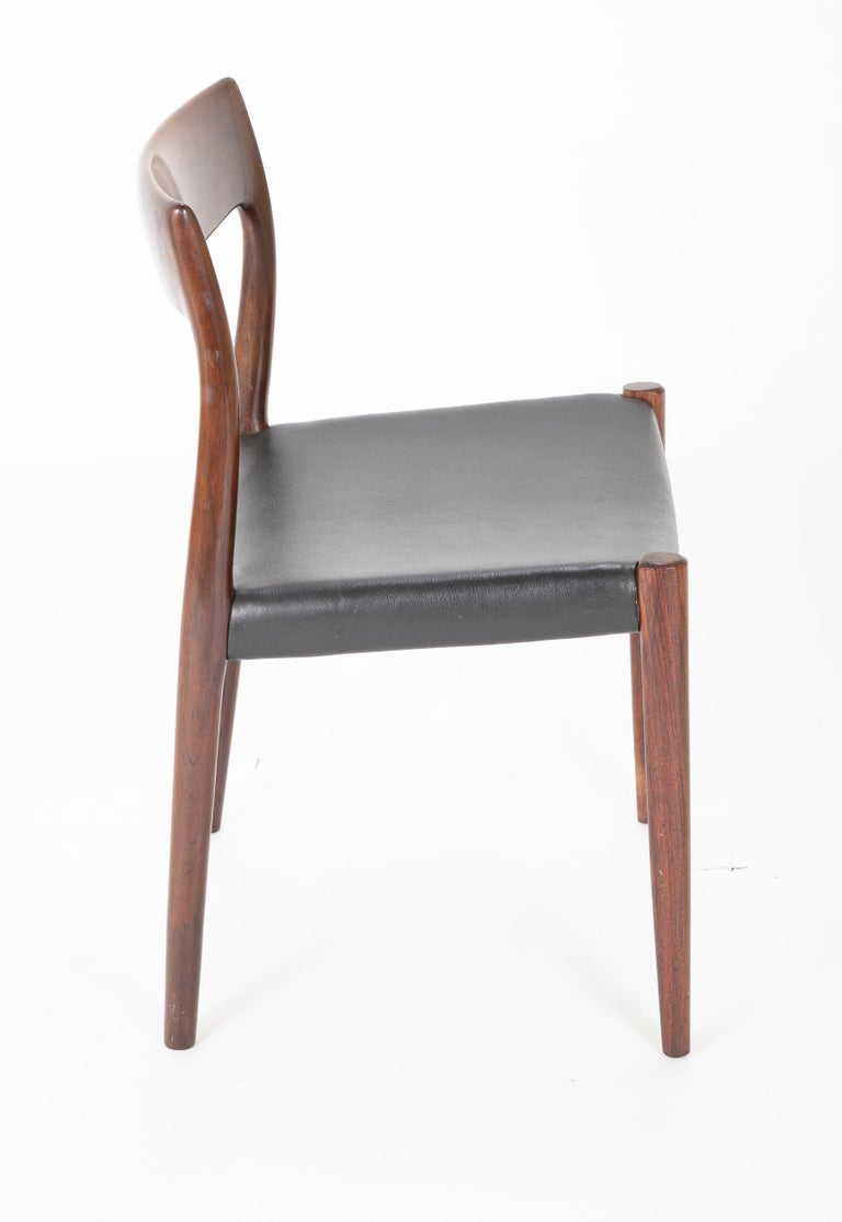 Set of Four Model 77 Niels Moller Rosewood Dining Chairs For Sale 3