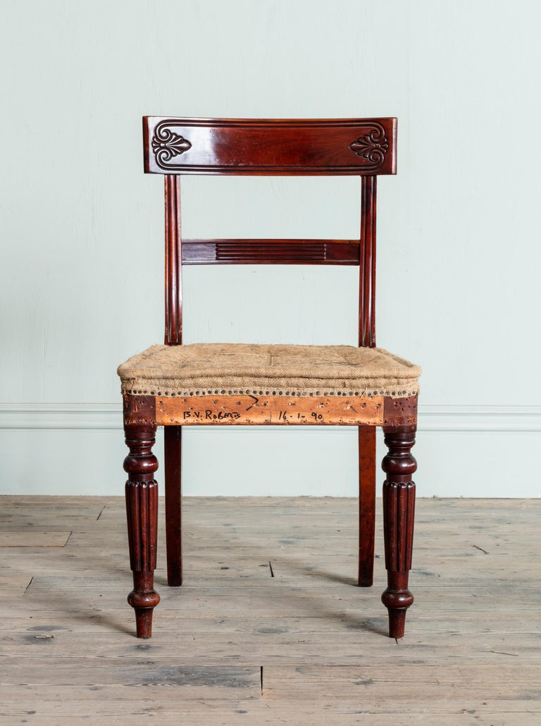 English Set of Twenty Regency Dining Chairs For Sale