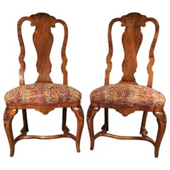 Set of Two Baroque Chairs, South German, 18th Century