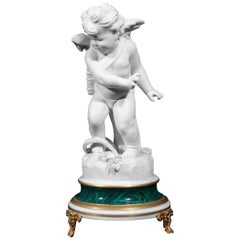 Sèvres Style Bisque Porcelain Cupid, Early 20th Century