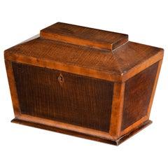 Shaped Late George III Period Mahogany Tea Caddy