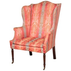 Sheraton-Federal Mahogany Wing Chair, New York, circa 1800 Duncan Phyfe Workshop
