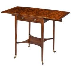 Sheraton Period George III Mahogany Patience Table