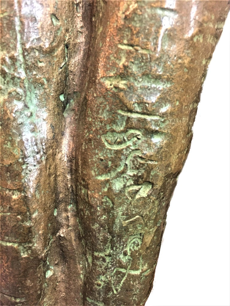 """Shout, Mid-Century Modern Patinated Bronze Sculpture, Signed """"Igor 67"""" For Sale 1"""