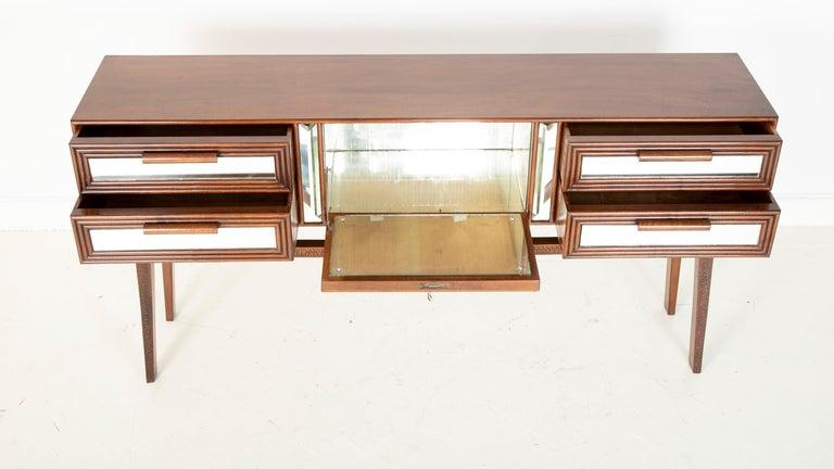 Mahogany Sideboard Bar Designed by G. Cavatorta, circa 1930s For Sale