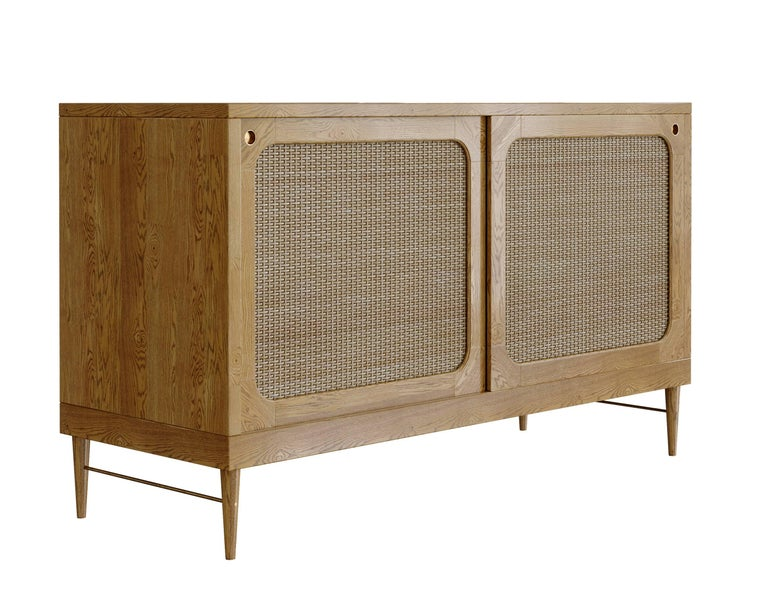 Sideboard for Sanders by Lind + Almond in Cognac and Rattan For Sale 2