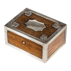 Silver Mounted Oak Box from the Ship's Timbers of Hms Victor Emmanuel
