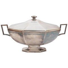 Silver Plate Tureen, Great Scale, Form and Simplicity, a Deffinate Statement