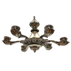 Silver Plated Greek Revival Chandelier
