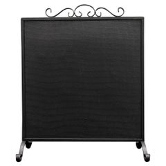Simple Wrought Iron Fire Screen