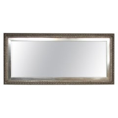 Single 19th Century Antique White Gold Gilded Mirror