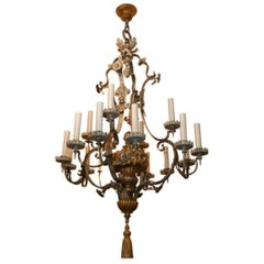 Sixteen-Light American Neoclassic Design Chandelier Attributed to Caldwell