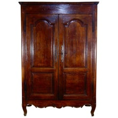 Small 18th Century Provincial French Oak Armoire Cupboard Wardrobe