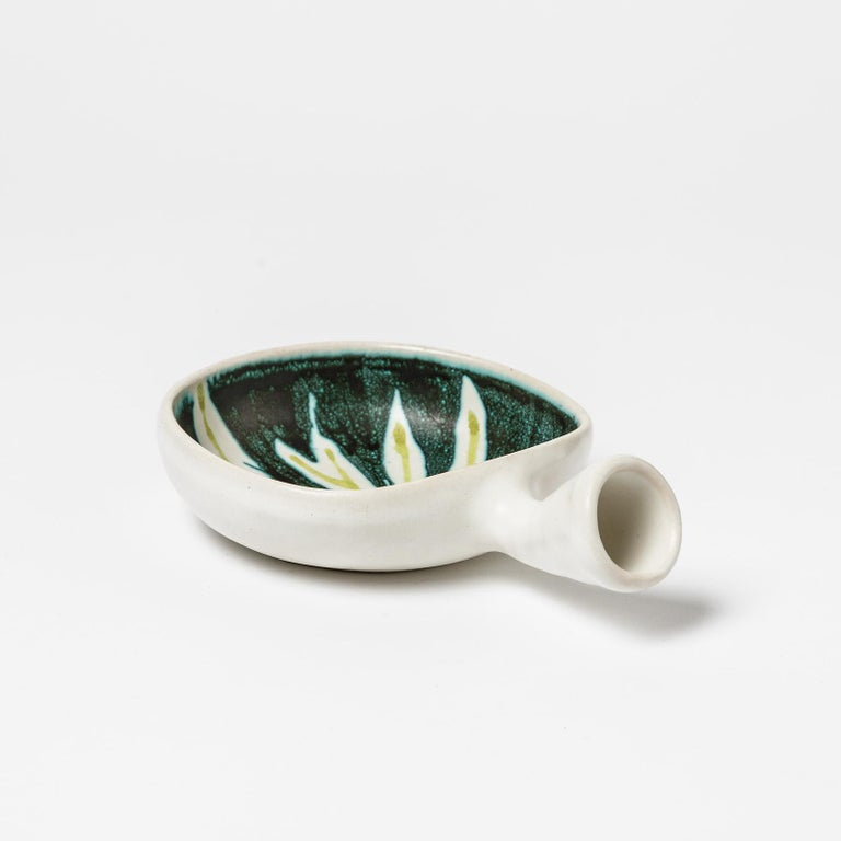 Beaux Arts Small Ceramic Dish by Robert Deblander, circa 1965-1970 For Sale