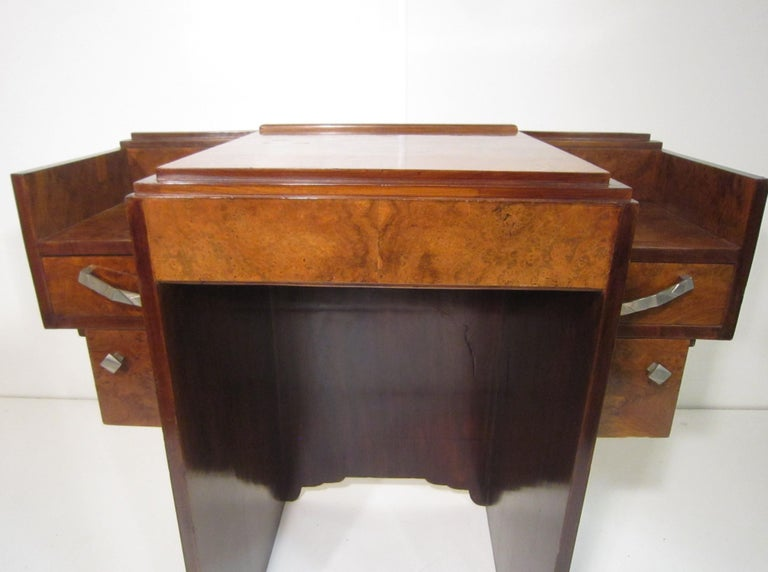 Small French Art Deco Writing Desk/ vanity For Sale 9