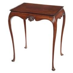 Small George III Style Irish Mahogany Silver Table
