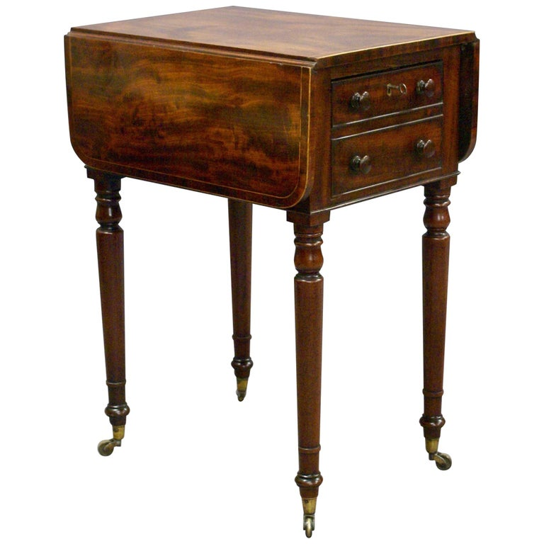Small Late George III Small Mahogany Pembroke or Work Table