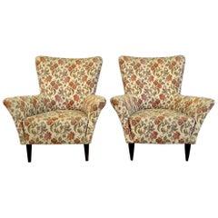 Small Midcentury Pair of 1950s Italian Armchairs