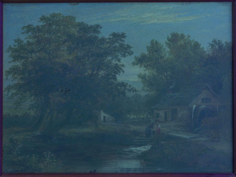 """A Small Mill"" Antique Landscape Painting by Mark Dockree 'English' For Sale 10"