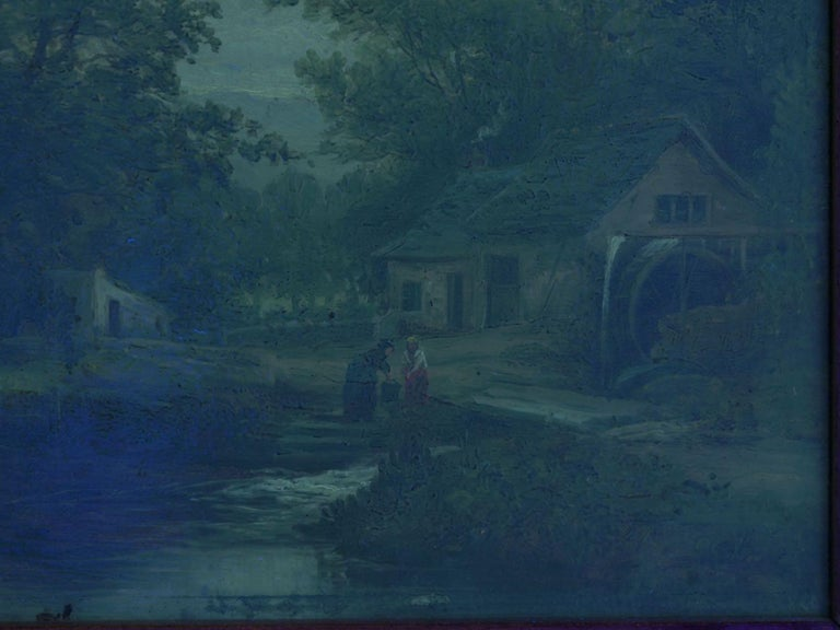 """A Small Mill"" Antique Landscape Painting by Mark Dockree 'English' For Sale 12"