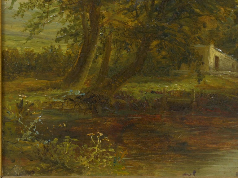 "19th Century ""A Small Mill"" Antique Landscape Painting by Mark Dockree 'English' For Sale"