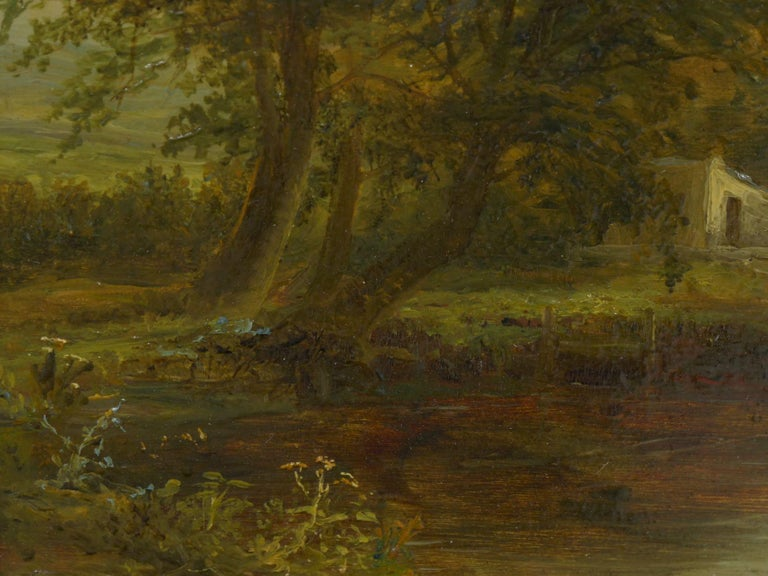 """A Small Mill"" Antique Landscape Painting by Mark Dockree 'English' For Sale 3"