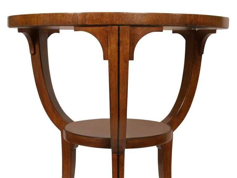 American Small Round Neoclassical Style Table For Sale
