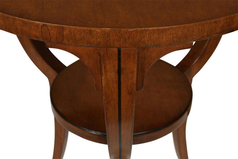 Small Round Neoclassical Style Table In Excellent Condition For Sale In New York, NY