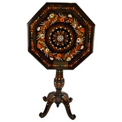 Small Scale Tilt Top Octagonal Centre Table in the Manner of Falcini