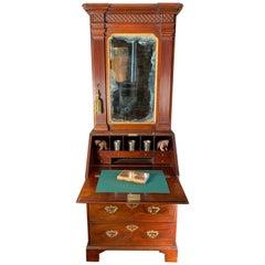 Small Size Mid-18th Century Mahogany Bureau Bookcase or Cabinet