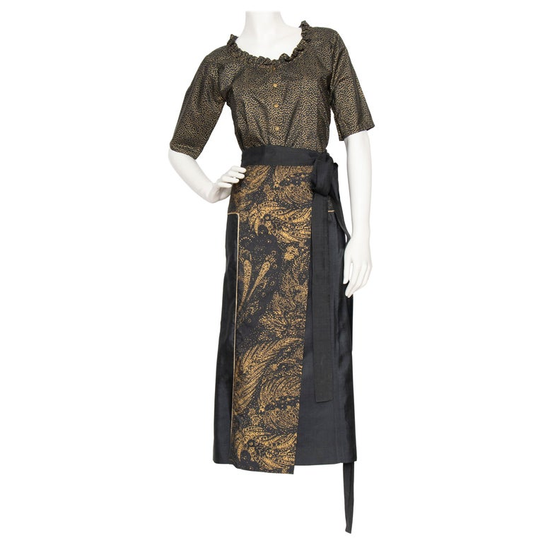 A socumented Yves Saint Laurent Rive Gauche Two-Piece Silk Ensemble For Sale