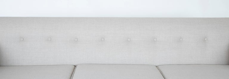 Walnut Sofa Designed by Edward Wormley and Produced by Dunbar For Sale