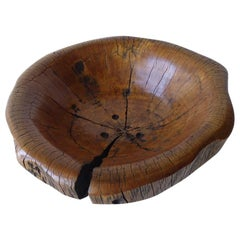 Solid Ficus Wood Sculpted Bowl by Contemporary Artist Daniel Pollock CA-4 Bowl