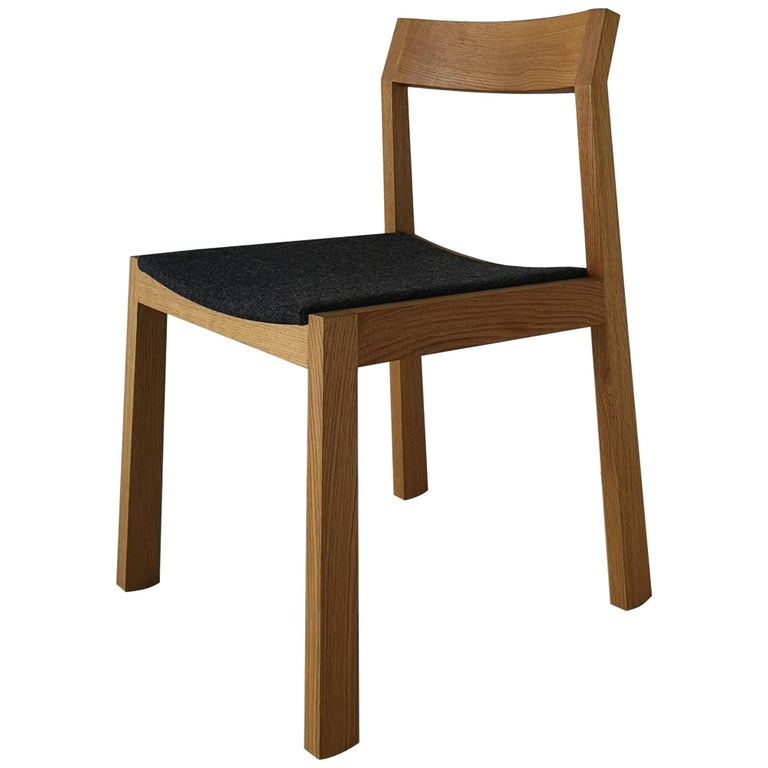 A+ Solid Hardwood Upholstered Dining Chair by Izm Design For Sale