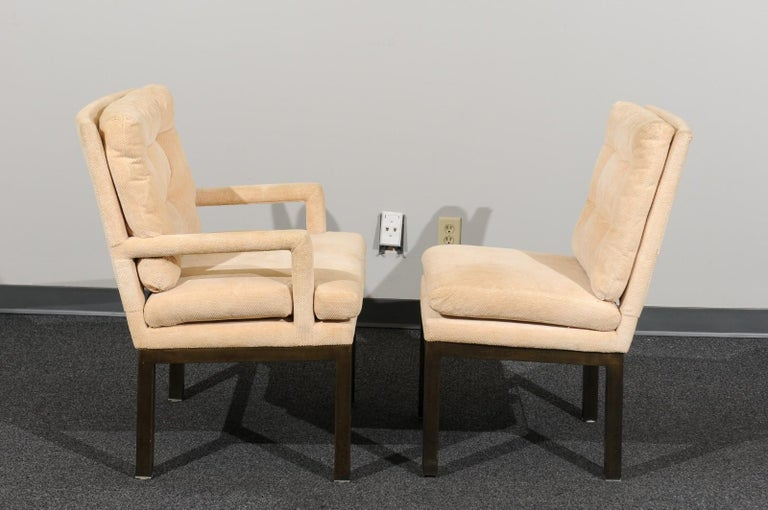 Sophisticated Set of 10 Brass Parsons Dining Chairs by John Stuart, circa 1968 For Sale 5