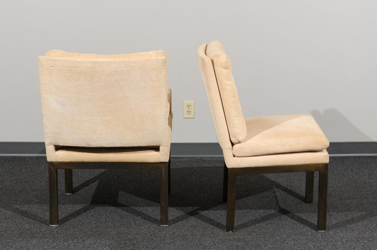 Sophisticated Set of 10 Brass Parsons Dining Chairs by John Stuart, circa 1968 For Sale 1