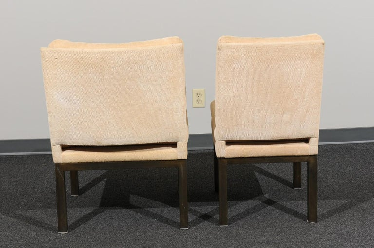 Sophisticated Set of 10 Brass Parsons Dining Chairs by John Stuart, circa 1968 For Sale 2