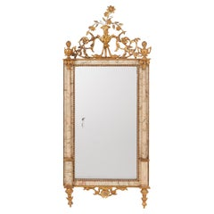 Spanish Bilbao Mirror with Gilt Wood and Marble Frame