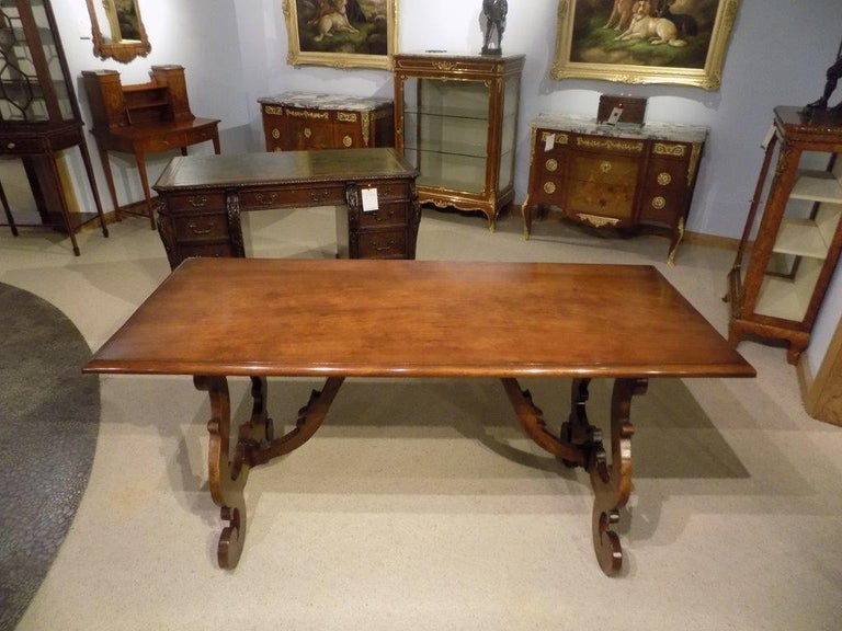 A Spanish Style Walnut Antique Refectory Dining Table