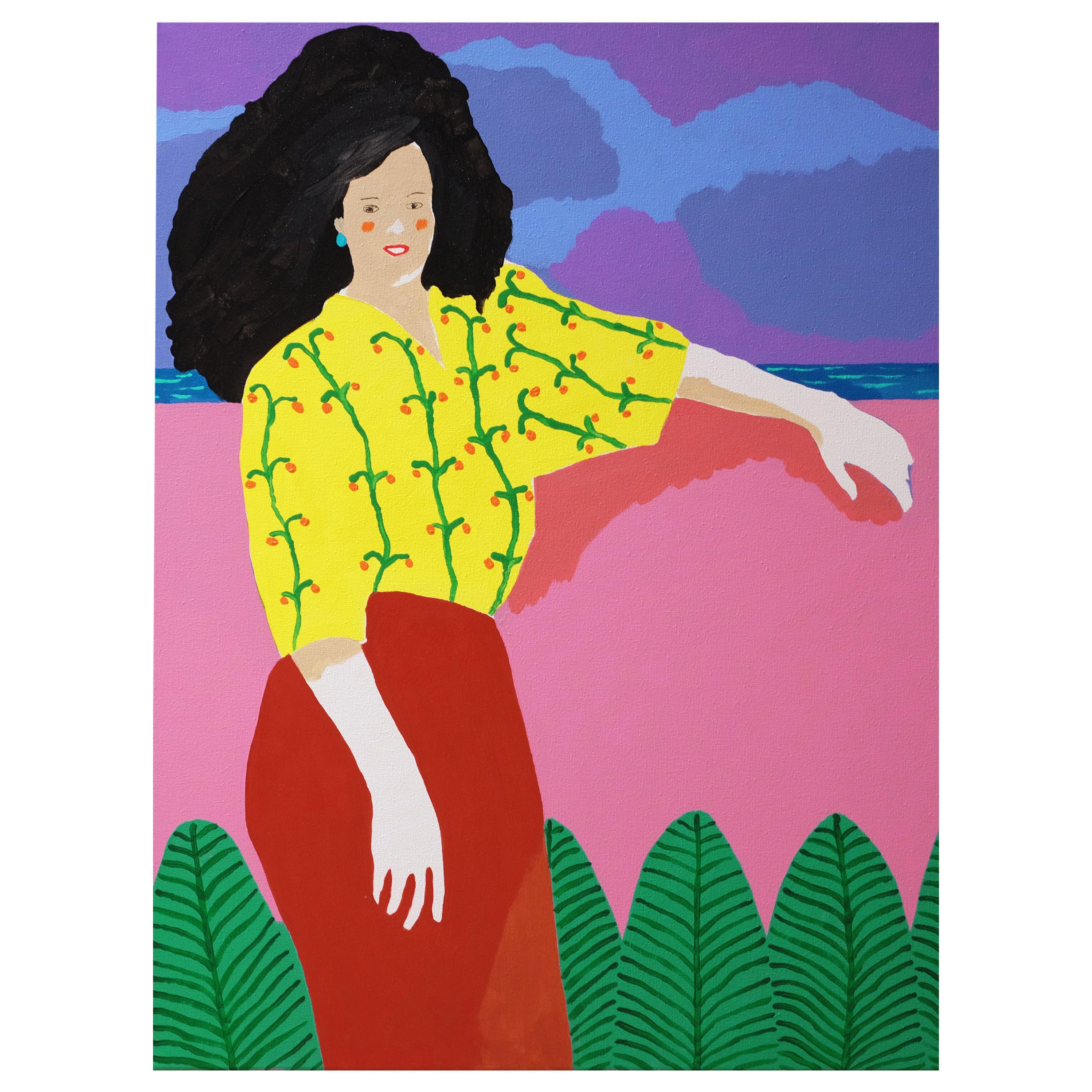 'A Spectacular View' Portrait Painting by Alan Fears Pop Art