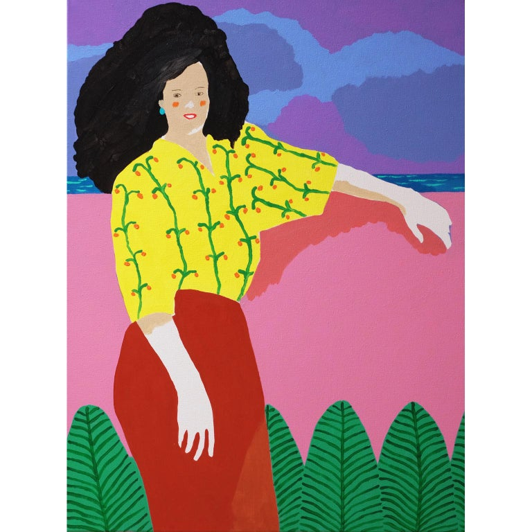 'A Spectacular View' Portrait Painting by Alan Fears Pop Art For Sale
