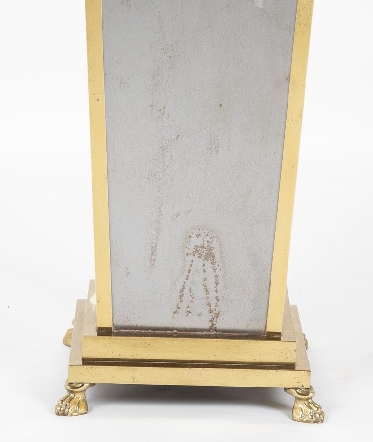 Steel and Brass Pedestal in the Manner of Maison Jansen In Good Condition For Sale In Stamford, CT